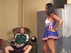 Angel Eyes Ebony Cheerleader Creampie