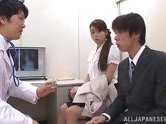 Kinky Japanese chick shows her blowjob skills in reality video