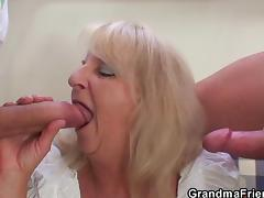 Experienced, Blonde, Granny, Group, HD, Mature