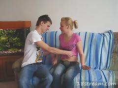 Slutty amateur blonde Rosa has hot sex with Max in reality clip