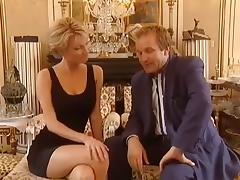 Tall and Elegant Blonde fucks a rich man