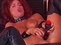 British slut Vida in lesbian action in a classic scene