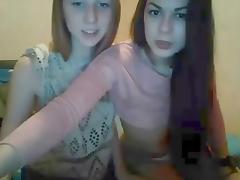 Two Girls kissing on Webcam