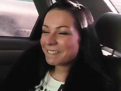 Emmy in hot girl gives head to a horny guy in his car