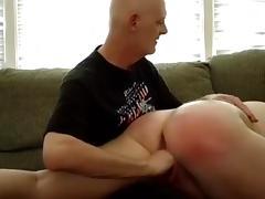 I spank my girlfriend's fat globes