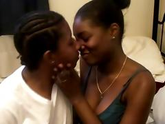 Lovely hot ass ebony hotties in a nasty lesbian fuck scene