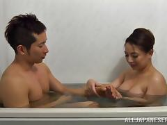 Naughty porn hot chick Mako Oda gets fucked hard doggystyle