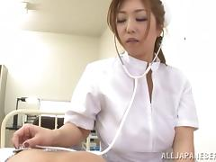 Naughty Asian nurse Naho Hazuki with big tits in pov adventure