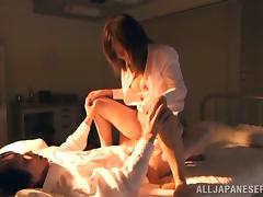 Mature Asian lady Rina Ishihara moans as her cunt gets fisted