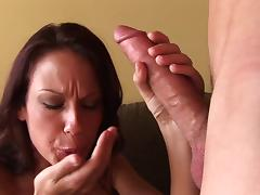 McKenzie Lee gets a mouthful of jizz after doggystyle sex