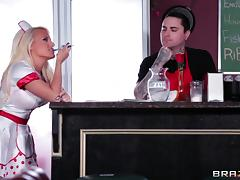 Sensuous blonde maid in uniform getting hammered hardcore