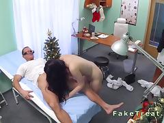 Doctor fucks patient on Christmas day
