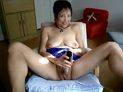 Asian Granny, Asian, Masturbation, Mature, Old, Webcam