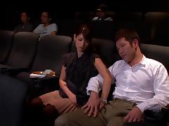 Lovely Asian amateur pornstar giving a blowjob in public