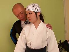 Seductive Japanese cowgirl gets her face fucked hardcore