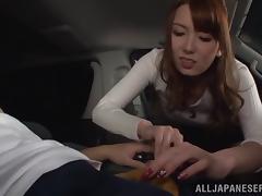 Car, Asian, Bimbo, Blowjob, Bra, Car
