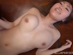 Chisa Hoshino gets fucked in a hot blowjob and bang action