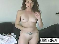 Amateur girl does casting strip