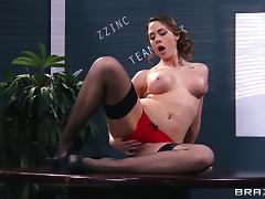 Flawless pornstar Chanel Preston takes big dick in her wet pussy