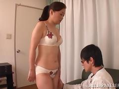 Japanese student gets the pleasure of fucking his milf teacher