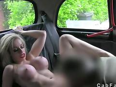 Car, Big Cock, Big Tits, Blonde, Blowjob, Boobs