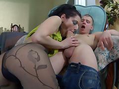 PantyhoseTales Movie: Inessa and Steve