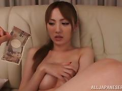 Slutty Asian is fucked for money