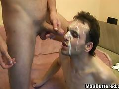Felch Lover gets Anal Fuck and Cum Drop