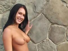 Agy represent nude Angelica in public, weekend