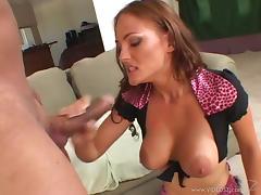 Mini-skirt clad cougar with big nipples enjoying a hardcore anal fuck