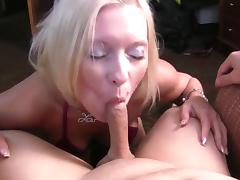 Blond MILF Deepthroats Anal DP and wants more!!