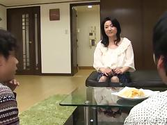 A chubby, Asian mature woman fucked doggystyle on the floor