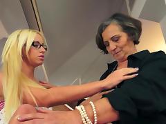 Young Teen & Granny Lesbians