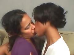 a horny deep kiss