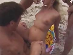 Beach, Beach, Group, Orgy, Outdoor, Small Tits