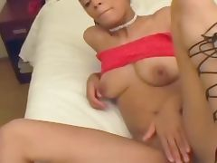 Hot ebony pussy rides a massive pecker porn video