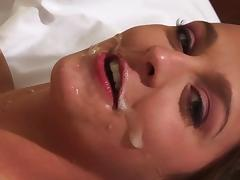 Poppy Morgan jumps on a schlong and gets a facial cumshot