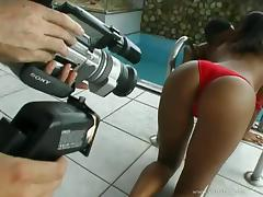 Hot black butt beauty Delza gets nailed anal in ebony fuck