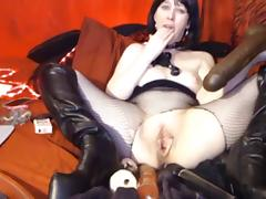 Mature web slave with dildos