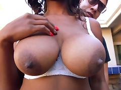 Black Big Tits, Big Tits, Black, Blowjob, Boobs, Cum in Mouth