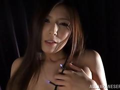 Luscious Asian solo model entrancing her pussy ravishingly