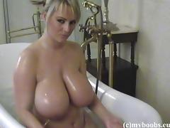 Bathing, Bath, Bathing, Bathroom, Big Tits, Boobs