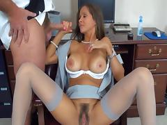 Mom and Boy, Brunette, Hairy, Mature, MILF, Mom and Boy