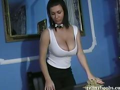 Panties, Big Tits, Boobs, Brunette, Classy, College