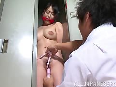 He rescues the Japanese cutie from a locker and fucks her