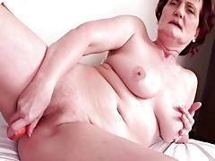 Mature and Teen, Big Tits, Boobs, Brunette, Granny, Masturbation