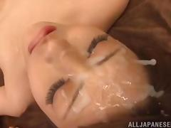 ayu takes a jizzload