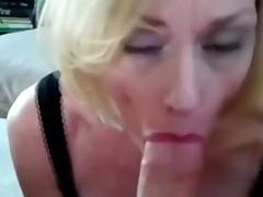 My cougar blonde babe giving me oral-service job like no other ever