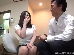 Dirty Asian milf enjoys a hard screw with her lover