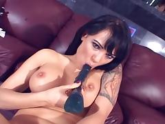 Hot babe toys her asshole